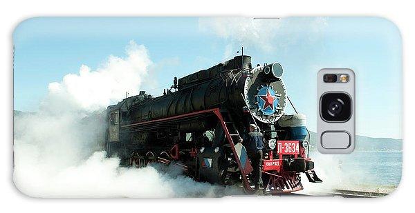 Old Russian Train On Bajkal Galaxy Case by Tamara Sushko
