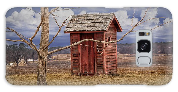 Old Rustic Wooden Outhouse In West Michigan Galaxy Case