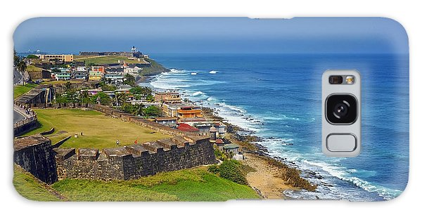 Old San Juan Coastline Galaxy Case by Stephen Anderson