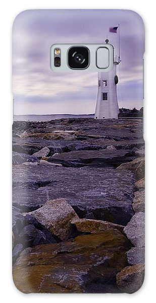 Old Scituate Light At Sunrise Galaxy Case