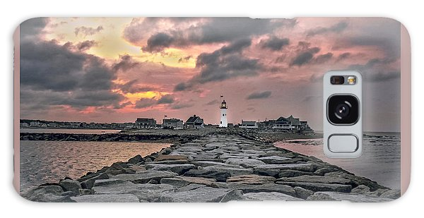Old Scituate Light At The End Of The Jetty Galaxy Case