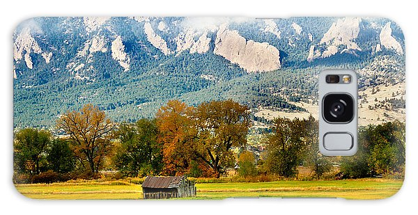 old shed against Flatirons Galaxy Case