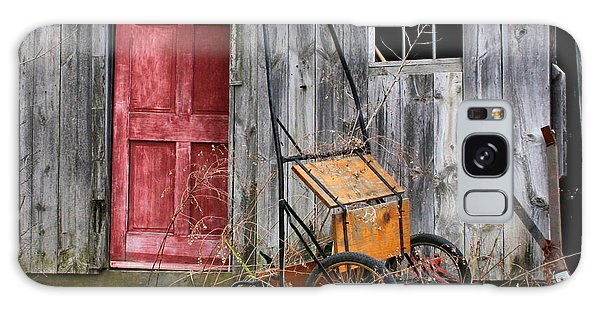 Old Shed Red Door And Pony Cart Galaxy Case by Betty  Pauwels