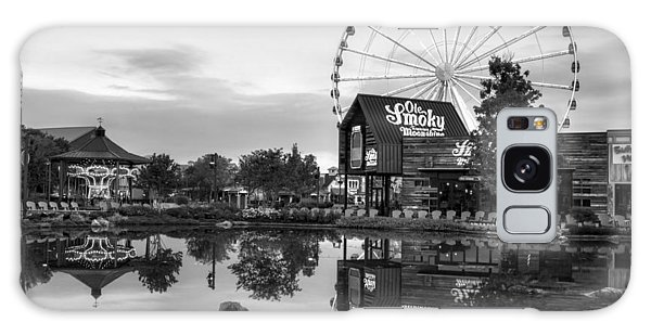 Ole Smoky Tennessee Moonshine Reflection In Black And White Galaxy Case