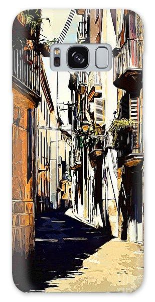 Old Spanish Street Galaxy Case