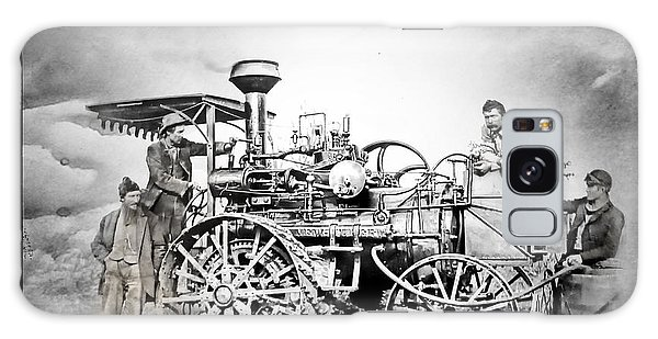 Old Steam Tractor Galaxy Case