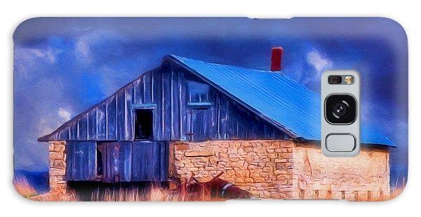 Old Stone Barn Blue Galaxy Case