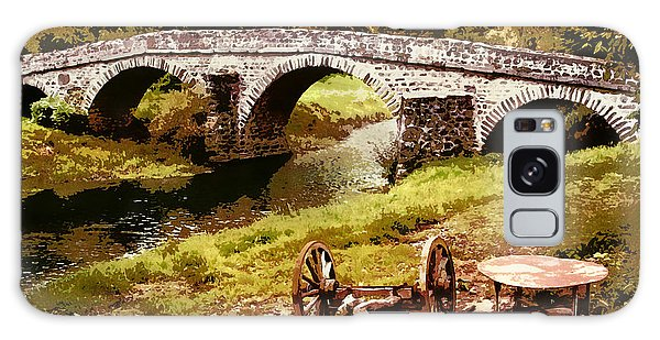 Old Stone Bridge In France Galaxy Case