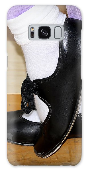 Old Tap Dance Shoes With White Socks And Wooden Floor Galaxy Case
