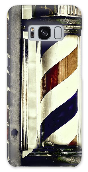 Old Time Barber Pole Galaxy Case
