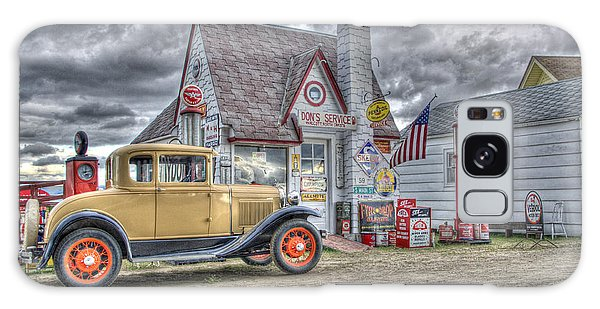 Old Time Gas Station Galaxy Case by Shelly Gunderson