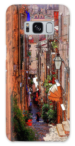 Old Town Dubrovniks Inner Passages Galaxy Case