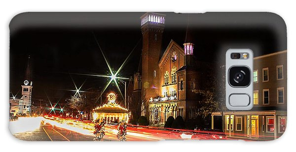 Old Town Hall Light Trails Galaxy Case