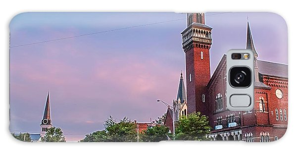 Old Town Hall Sunset Sky Galaxy Case