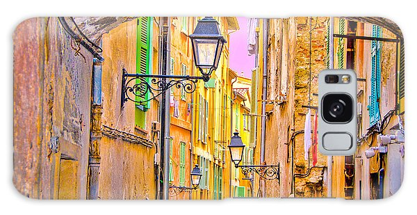 Old Town Nizza, Southern France Galaxy Case