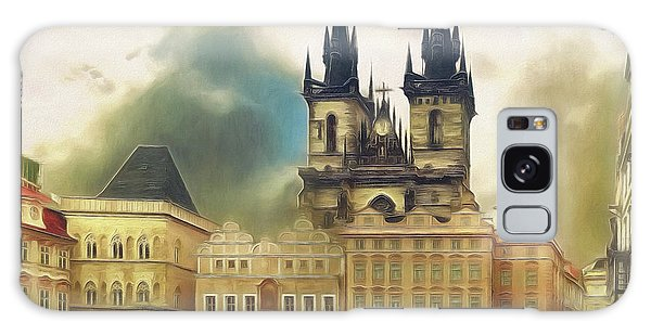 Old Town Square Prague In The Rain Galaxy Case