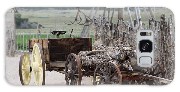 Old Tractor And Wagon In Foreground Cove Creek Fort Photography By Colleen Galaxy Case
