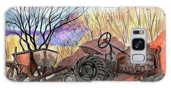 Old Tractor Danvers Ma Galaxy Case
