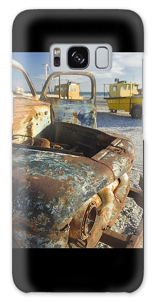 Old Truck In The Beach Galaxy Case by Silvia Bruno