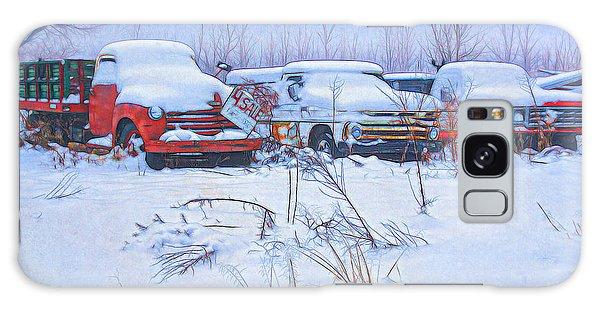 Old Trucks In Snow Galaxy Case