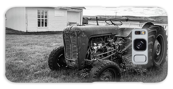 Galaxy Case featuring the photograph Old Vintage Tractor Iceland by Edward Fielding