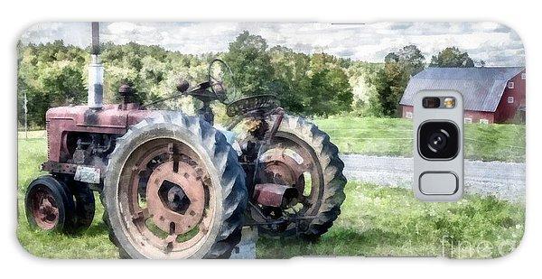 John Deere Galaxy Case - Old Vintage Tractor On The Farm by Edward Fielding