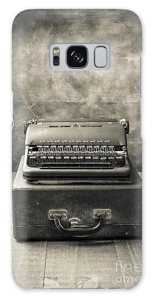 Galaxy Case featuring the photograph Old Vintage Typewriter  by Edward Fielding