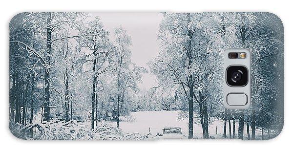 Old Vintage Winter Landscape Galaxy Case by Christian Lagereek