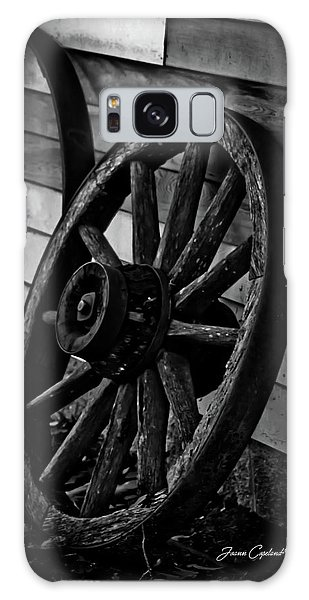 Old Wagon Wheel Galaxy Case by Joann Copeland-Paul