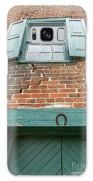Old Warehouse Window And Lucky Door Galaxy Case
