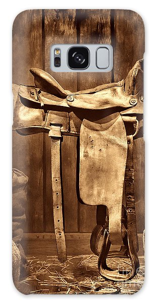 Old Western Saddle Galaxy Case by American West Legend By Olivier Le Queinec