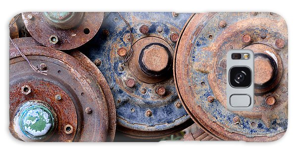 Old Wheels, Circles And Bolts Galaxy Case