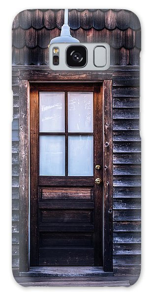 Old Wood Door And Light Galaxy Case by Terry DeLuco