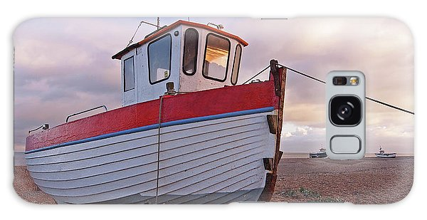 Old Wooden Fishing Boat Home By Sunset Galaxy Case