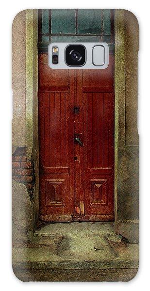 Old Wooden Gate Painted In Red  Galaxy Case by Jaroslaw Blaminsky
