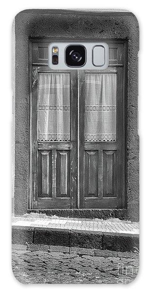 Old Wooden House Door Galaxy Case