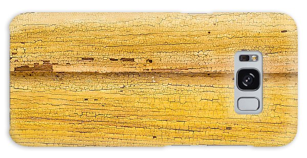 Old Yellow Paint On Wood Galaxy Case by John Williams