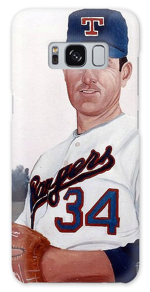 Galaxy Case featuring the painting Older Nolan Ryan With The Texas Rangers by Rosario Piazza