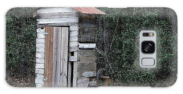 Oldtime Outhouse - Digital Art Galaxy Case