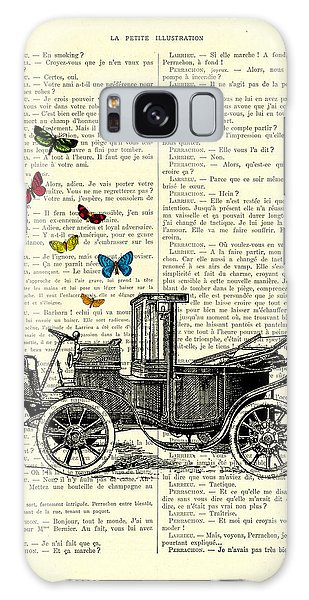 Automobile Galaxy Case - Oldtimer And Butterflies by Madame Memento