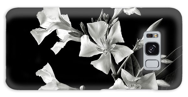 Oleander In Black And White Galaxy Case
