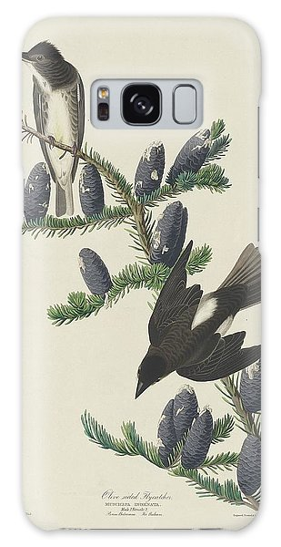 Flycatcher Galaxy Case - Olive-sided Flycatcher by Dreyer Wildlife Print Collections
