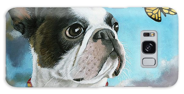 Oliver - Dog Pet Portrait Galaxy Case
