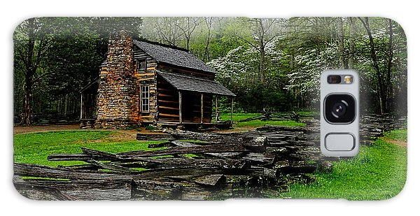 Oliver's Cabin Among The Dogwood Of The Great Smoky Mountains National Park Galaxy Case