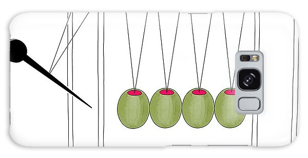 Olives And Toothpick On Newtons Cradle Galaxy Case
