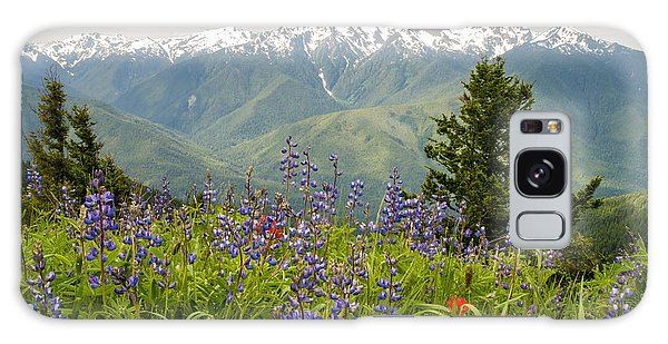 Olympic National Park Galaxy Case - Olympic Mountain Wildflowers by Brian Harig