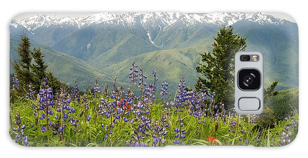 Olympic Mountain Wildflowers Galaxy Case