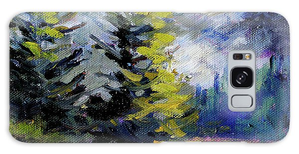 Galaxy Case featuring the painting Olympic Range by Nancy Merkle