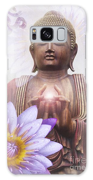 Om Mani Padme Hum - Buddha Lotus Galaxy Case by Sharon Mau
