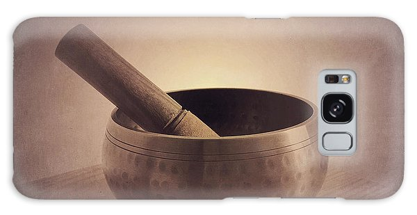 Galaxy Case featuring the photograph Om Singing Bowl by Chris Scroggins